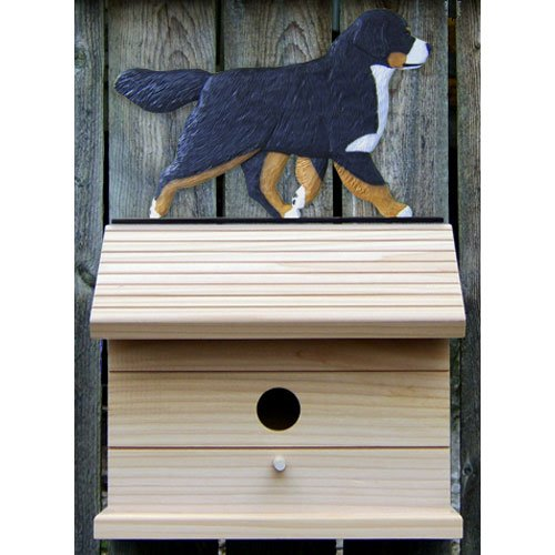 Michael Park Bernese Mountain Dog Bird House by
