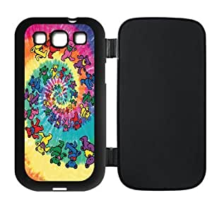 Colorful Spiral Bears Cartoon Protective Leather Rubber Flip Cover Case for SamSung Galaxy S3 by supermalls