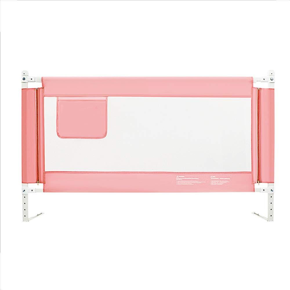 LHA ベッドガードフェンス ベビーベッドガードレール、ポータブル折り畳み式ベッドガードレール幼児と子供向けのシングルガードレールセーフティフェンス、150,18,200 X86 Cm (色 : Pink, サイズ さいず : L-180cm) L-180cm Pink B07JGL1SLF