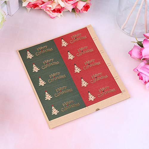 Party Diy Decorations - 100pcs Set Bronzing Tree Candy Box Packing Bag Decoration Merry Christmas Gift Seal Label Stickers - Party Decorations Party Decorations Chinese Cookie Candy Heart