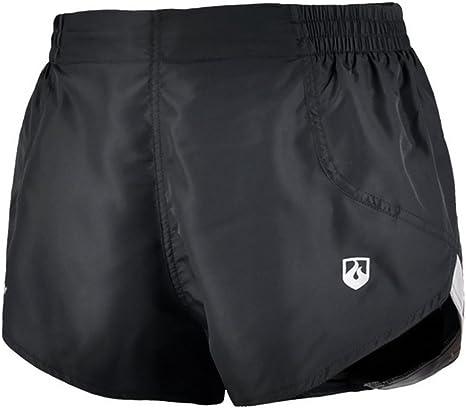Leevy Hi8 - Pantalones Cortos de Running para Hombre, Ligeros, 2 en 1