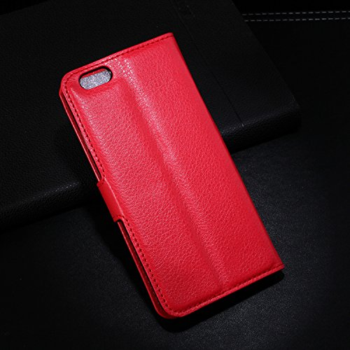 For iPhone 6 case, HQF® Wallet Case [Kickstand Feature] Leather Case Cover [Special Edition] with Credit Card ID Holders for iPhone 6 4.7 Inch(Red)
