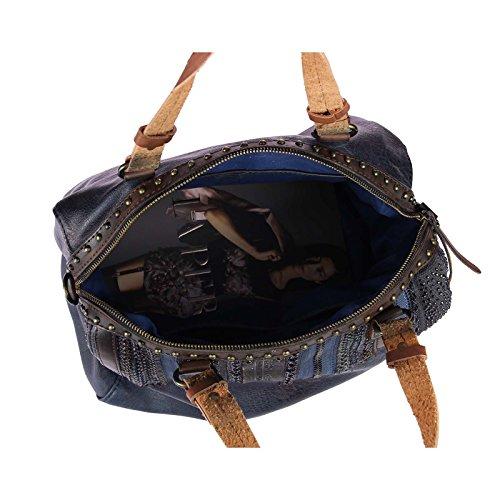 OBC Only-Beautiful-Couture - Bolso estilo bolera para mujer azul azul oscuro ca.: 36x28x16 cm (BxHxT) azul oscuro