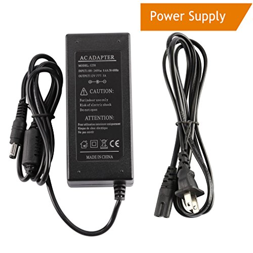 LEDMO Power Supply, Transformers,LED Adapter, 12V, 5A Max, 60 Watt Max, for LED Strip (Single Output Outdoor Transformer)