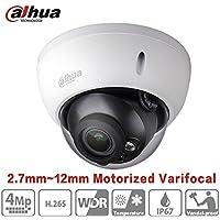 Dahua 4 Megapixel Varifocal Motorized IP Camera HDBW4431R-ZS (2.7mm~12mm) IR Night Version POE H265 IP67 Outdoor Security Surveillance Dome Camera ONVIF International Version