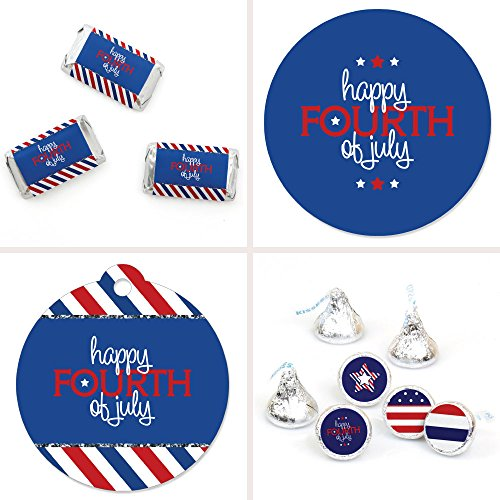 4th of July - Party Decorations Favor Kit - Independence Day Party Stickers & Tags - 172 pcs