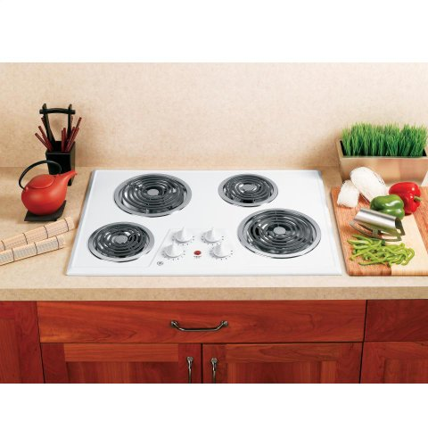 30 inch electric cooktop white - 4