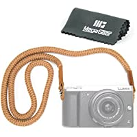 MegaGear Cotton Strap - Comfort Padding, Security for All Cameras (Brown, Large - 100cm/39inc)