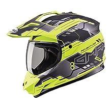 GMAX unisex-adult full-face-helmet-style Visor (Gm11D '15 Adventure Tc24 Tt) (Hi-Vis Yellow, One Size)