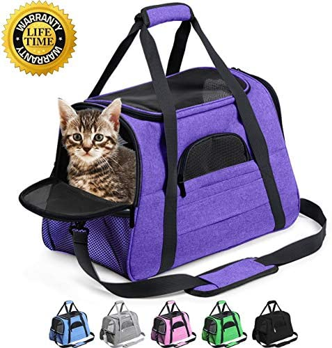 Prodigen Pet Carrier Airline Approved Pet Carrier Dog Carriers for Small Dogs, Cat Carriers for Medium Cats Small Cats, Small Pet Carrier Small Dog Carrier Airline Approved Dog Cat Pet Travel Carrier