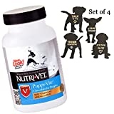 Puppy Vitamins – Puppy Supplements with Antioxidants Taurine – Healthy Puppy Vitamins for Skin Coat Joint Liver Brain – Chewable Support Small Medium Large Puppies – 4 Pack Dog Puppy Magnets Included For Sale