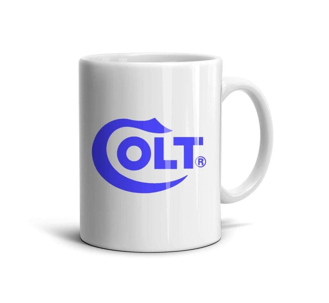 HIYITUTA Colt Logo Mugs White Motivational Mug 11 Oz Couples Mugs FamilyMembers Co-Workers