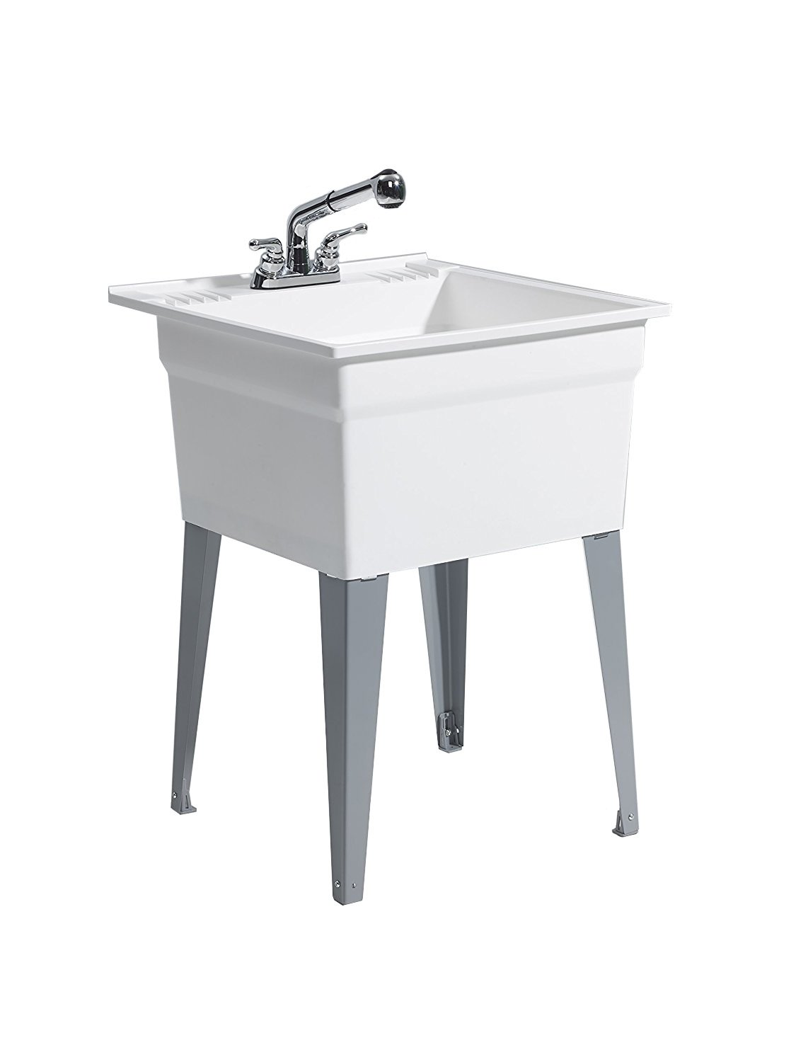 CASHEL 1960-32-21 Sink - Fully Loaded Sink Kit, Steel Leg, White
