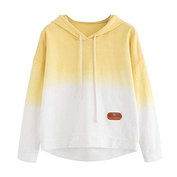 DAYLIN Mujer Sudadera con Capucha Degradado de Color Tops Talla Grande  Blusa Mangas Largas Jersey Camisas  Amazon.es  Ropa y accesorios 9b7d4e07a4f