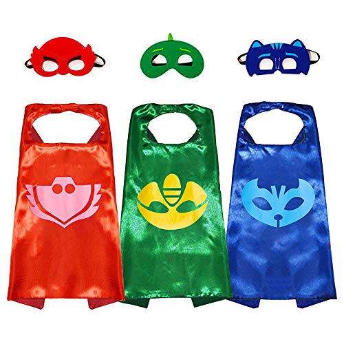 GREAMBABY Superhero Capes with Masks, Halloween Christmas Dress up Costumes for Boys Birthday Party Favors for Kids