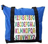 Lunarable ABC Kids Shoulder Bag, Kindergarten Years Comic, Durable with Zipper