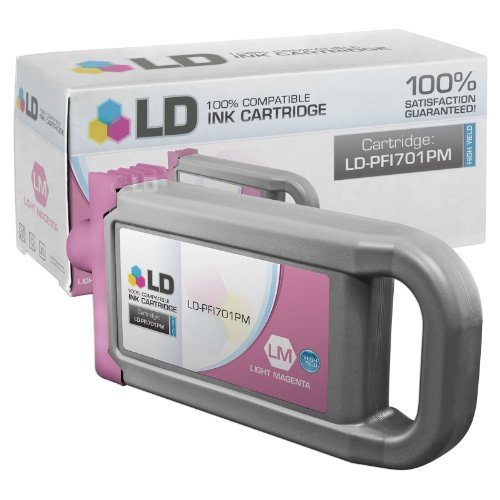 LD Compatible Replacement for Canon PFI-701PM High Yield Photo Magenta Pigment Inkjet Cartridge for use in Canon imagePROGRAF iPF8000, iPF8000s, iPF8100, iPF9000, iPF9000s and iPF9100 (Canon Imageprograf Ipf8100 Photo)