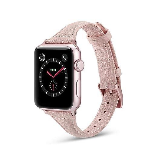 Correa De Pulsera De Recambio Correa De Reloj Cuero Pequeña Tipo T para Apple Serie IWatch