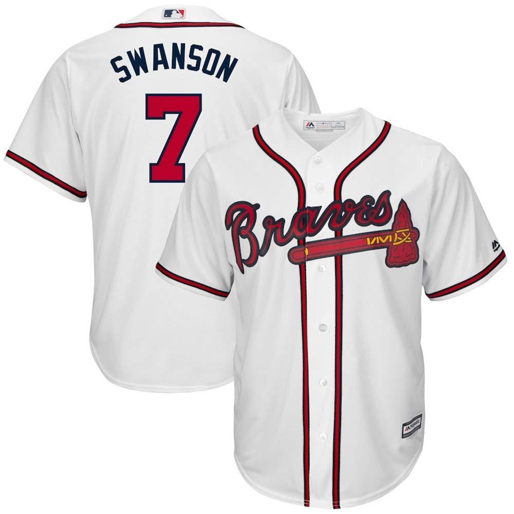 YQSB Personalized Jersey Shirt Baseball Baseball League Atlanta Braves #7 Swanson Embroidered Baseball Jersey