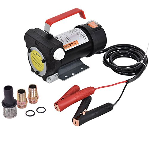 Goplus Electric Fuel Pump 12V 10GPM Diesel Bio Kerosene Oil Transfer (Fuel Oil Diesel)