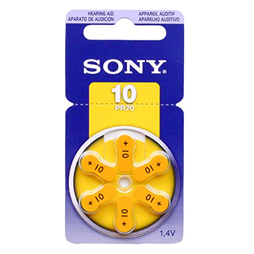 SONY Hearing Aid Batteries Size 10, 1.45 Volts (300 Pcs)