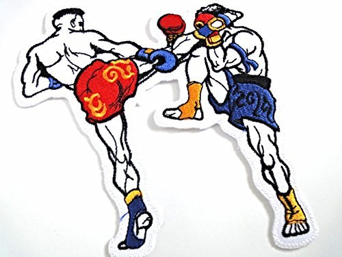 Muay Thai Boxing Fighters Boxers Martial Arts Applique Iron-on Patch New S-53 Cute Gift to Your Cloth. By Sonata Shop