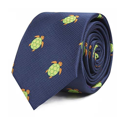 Animal Ties | Woven Skinny Neckties | Gift for Men | Work Ties for Him | Birthday Gift for Guys (Green ()