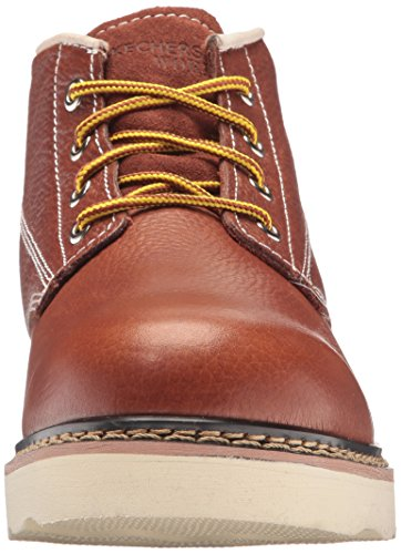 Skechers Men's Pettus Enderlin Work Shoe Red Brown buy cheap fake bDBepCgWBn