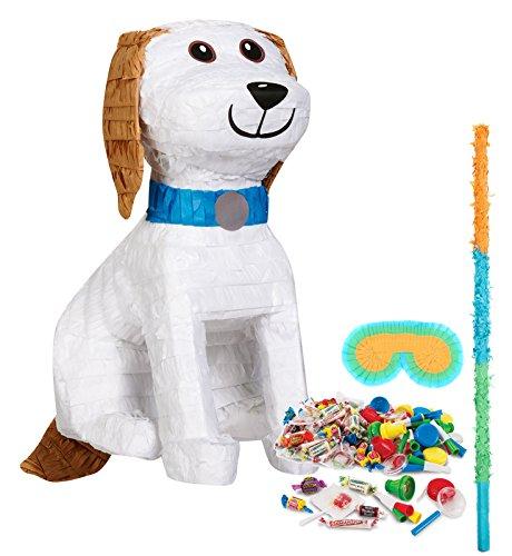 Pinata Mask & Buster Kit (Puppy Dog Party Supplies - 3D Pinata Kit)