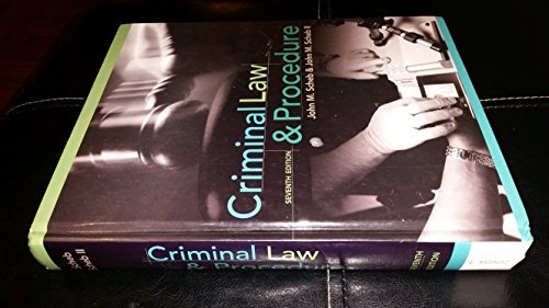 Criminal Law and Procedure 7th Edition by John M. Scheb, John M. Scheb II [Hardcover]
