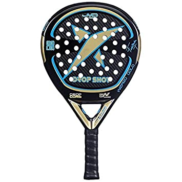DROP SHOT Wizard Gold - Pala de pádel, Color Negro/Dorado / Azul, 38 mm: Amazon.es: Deportes y aire libre