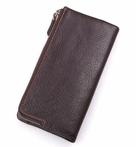 medium men's handbag wallet wallet LIGYM Men's open length casual leather XqRwR1EZx
