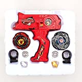 4D Launcher Grip Beyblade Set - Red