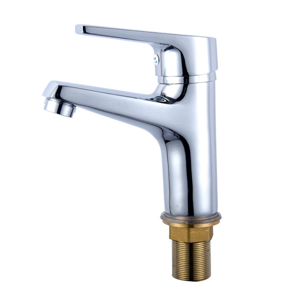 Copper Hot and Cold Water Basin Faucet Single Hole Faucet Bathroom Washbasin Bathroom Counter Faucet