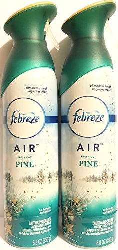 Febreze Air - Air Freshener Spray - Limited Edition - Winter Collection 2017 - Fresh-Cut Pine - Net Wt. 8.8 OZ (250 g) Per Bottle - Pack of 2 (Six Pines Halloween 2017)