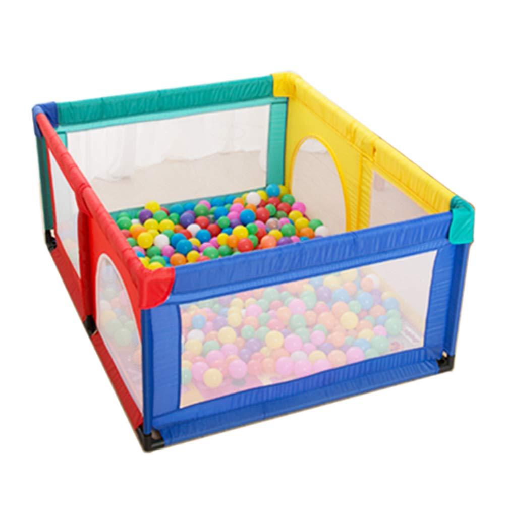 ベビーサークル, 安全な赤ちゃんの遊び場100ボールとクロールマット、幼児は、ストレージバスケットと庭をプレイ - 120×150×70センチメートル (色 : Style 1)  Style 1 B07KDC18ZB