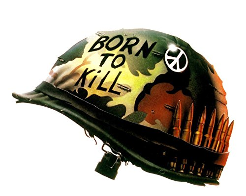 Risnay Full Metal Jacket 16x20 Canvas Giclee Classic Born to Kill Helmet Peace Sign