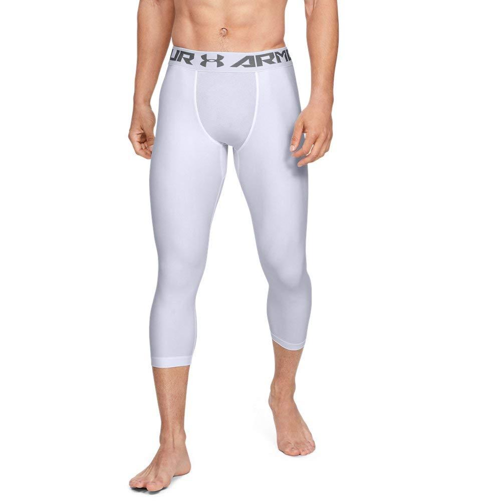 Under Armour Men's HeatGear Armour 2.0 ¾ Leggings, White (100)/Graphite, 4X-Large