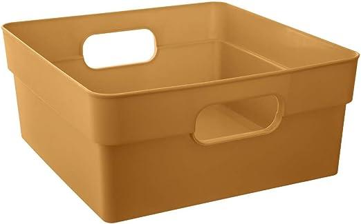 Atmosphera - Caja de almacenaje, Color Dorado: Amazon.es: Hogar