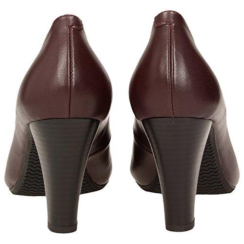 Zweigut Hambourg Smuck # 215 Cuir Femmes Pompes Chaussures De Confort Daffaires Dété Nappa Outsole Bourgogne