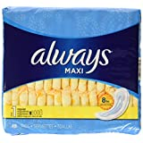Always Maxi, Size 1, Regular Pads, Unscented, 48 Count, Packaging May Vary