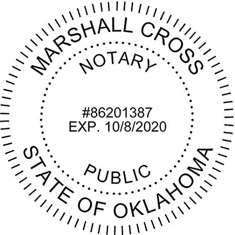 Amazon Round Notary Pre Inked Stamp For State Of Oklahoma Customized In One Day With Office Products