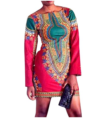 Abetteric Women's Trim-Fit O-Neck African Dashiki Printed Pencil Dress supplier