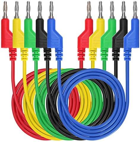 con Cable de Prueba Tipo Banana a Conector Banana de 4 mm y Pinza de Cocodrilo y Sonda Tipo U P1036A Kit de Cables de Prueba para Mult/ímetro