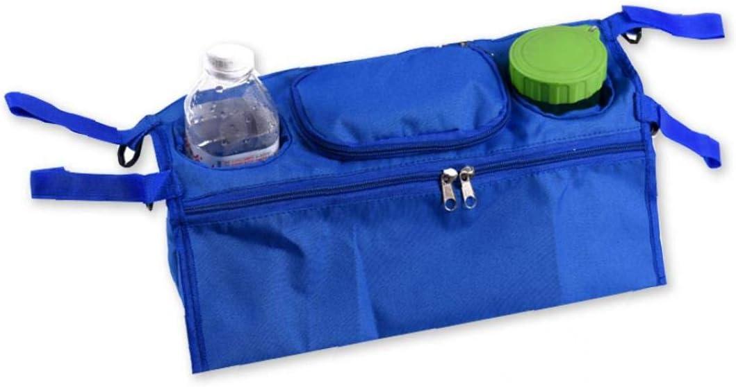 k/önigsblau linjunddd Kinderwagen Organizer Universal-Kinderwagen zur/ück Haning Aufbewahrungstasche mehrere Taschen mit Rei/ßverschluss und Deep-Becherhalter