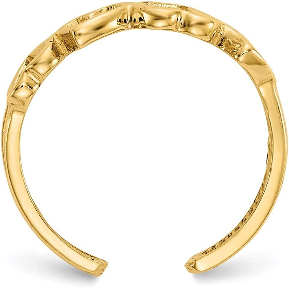 Roy Rose Jewelry 14K Yellow Gold Heart Toe Ring