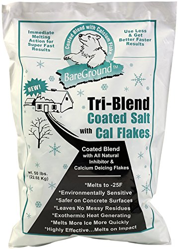 Bare Ground BGCSCA-50P Premium Coated Granular Ice Melt with Calcium Chloride (Pallet of 45), 50 lb ()