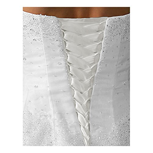 Laceeis Wedding Gown Replace Zipper Corset Back Kit Lace-up White