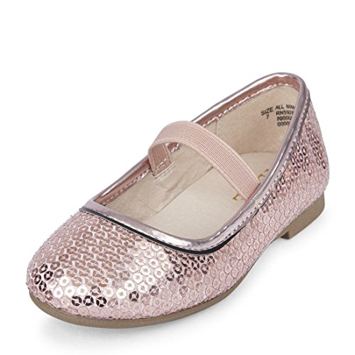 The Children's Place Girls' Dressy Ballet Flat, Pink 4, TDDLR 11 M US Toddler from The Children's Place