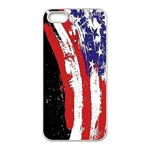 Unique US Flag Phone Case for iPhone 5S(TPU)